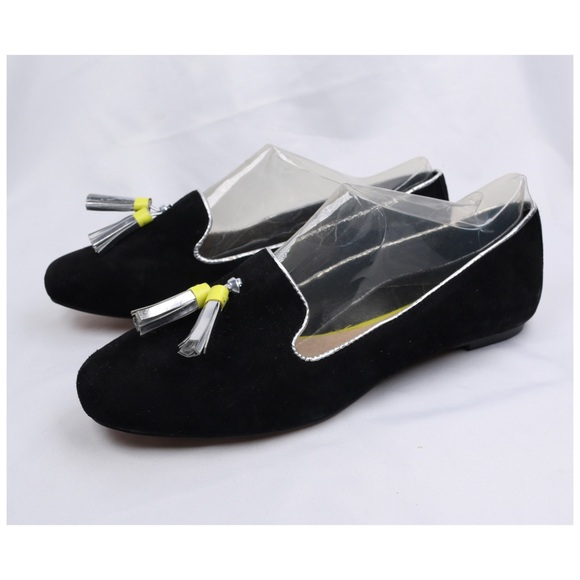 Dolce Vita Shoes - Dolce Vita Black Suede Leather Flat Tassel Loafers